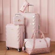 Luxe Hard-Sided Blush Carry-on Spinner Designed for the stylish traveler, our ul. - Luxe Hard-Sided Blush Carry-on Spinner Designed for the stylish traveler, our ultra-chic Luxe Hard- - Cute Luggage, Travel Luggage, Travel Bags, Teen Luggage, Pink Luggage, Travel Backpack, Pink Suitcase, Luggage Bags, It Luggage Carry On