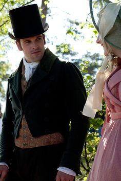 Jonny Lee Miller as Mr. Knightley and Romola Garai as Emma Woodhouse in Emma (TV Mini-Series, 2009).