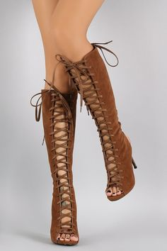adbc816ce99 Description These trendy boots features a front and back cutouts design with  corset style lace up