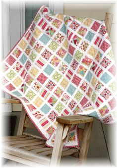 Vintage Baby Quilt Pattern.  I'll be making this for my girl!!