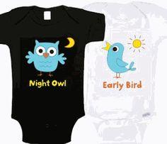 Night Owl & Early Bird Onesies