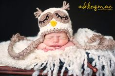 This adorable owl hat is perfect for any child or adult and can be fully customized in any color!!    Each piece is hand crocheted and sewed