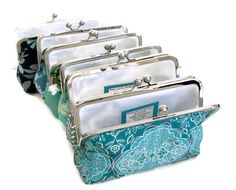 YOU DESIGN SET Blue Clutch Bag Bridal Party Gift Customize your Cutie Girlie Clutches -