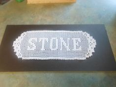 Picture of Filet Crochet Name Doily