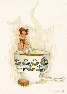Tiny lady in a teacup #gt