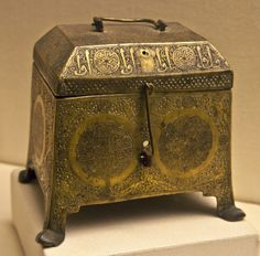 Brass Box at the Museum of Turkish and Islamic Art in Istanbul.Turkey