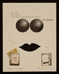 Ray Johnson mail art to Lucy R. Lippard