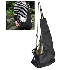 UEETEK Durable Oxford Pet Cat Dog Carrier Bag Single Shoulder Sling Bag for Pet Puppy Outdoor Travelling,Size S,Black *** You can get additional details at the image link. (This is an affiliate link and I receive a commission for the sales) #Doggies