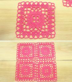 Crochet Monkey Pattern, Granny Square Crochet Pattern, Crochet Granny, Crochet Motif, Double Crochet, Crochet Hooks, Crochet Patterns, Crochet Ideas, Flower Granny Square