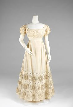 Evening dress Date: ca. 1820 Culture: American Medium: cotton Accession Number: 2009.300.2978a, b