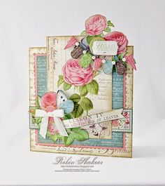 "April 2015 G45 Botanical Tea - ""Hello Friend"" Card by Robin Shakoor; Designs by Robin"
