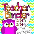 This teacher binder kit includes everything you need to get off to a great start during the 2013-2014 school year! The fun chevron owl theme is sur...