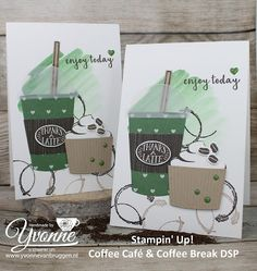 Yvonne is Stampin '& Scrapping: Stampin' Up! Coffee Café & Coffee Break #stampinup #yvonnevanbruggen
