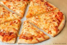 """""""Fast, easy to make, and delicious, this No-Rise Thin Crust Pizza will quickly become a family-favorite recipe. It's perfect for when you're craving pizza but you want to avoid greasy takeout pizza. You can have homemade pizza in no time at all! No Rise Pizza Dough, Best Pizza Dough, Thin Crust Pizza, Good Pizza, Perfect Pizza, Pizza Recipes, Bread Recipes, Cooking Recipes, Fast Recipes"""