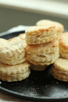 The Best Southern Style Flakey Buttermilk Biscuits recipe - these are great to go with breakfast or an easy weeknight dinner!