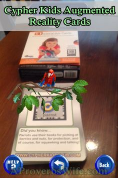 I recently had a chance to try the Cypher Kids Augmented Reality Cards with my son. He's learning about animals in school this month so Augmented Virtual Reality, Augmented Reality Technology, New Technology, Futuristic Technology, Energy Technology, Technology Gadgets, Proverbs Wife, Cool Gifts For Kids, Mobile Learning