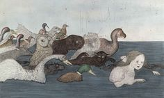 Kiki Smith – Pool of Tears 2 - Alice followed by animals - at Tate Liverpool