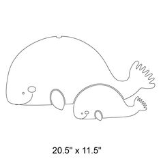 Whale pattern. Use the printable outline for crafts