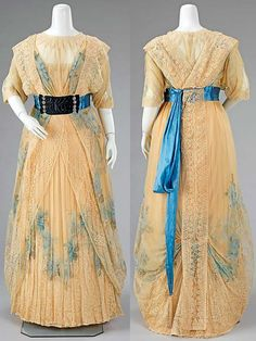 Dinner dress, Worth, 1908-1910. Silk with rhinestones. Metropolitan Museum of Art