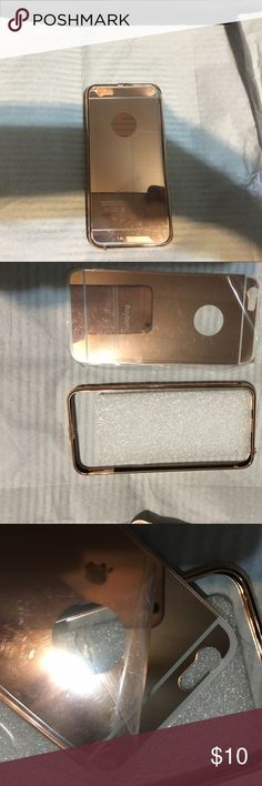 New IPhone 6 Bronze/gold Metal Case 2 piece case / metal plate with metal matching bumper. Package says rose gold but looks between rose gold and light bronze color / easy to assemble Accessories Phone Cases