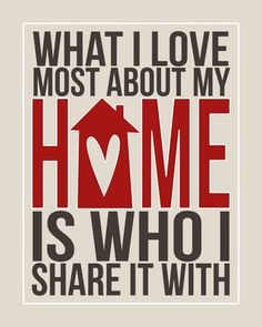Love at Home Printable available in different colors