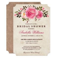 Rustic Country Floral Bridal Shower Invitation - trendy gifts cool gift ideas customize