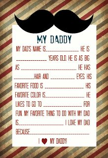 Preschool Crafts for Kids*: Father's Day Printable Poem Craft