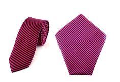Mens 6cm Maroon Black Stripes Skinny Tie with Pocket Square.