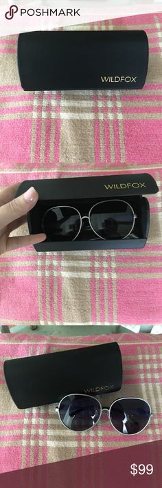 Brand New💕Wildfox Fleur Sunglasses Currently selling at Wildfox for $199! Adorable sunglasses with a silver metal frame-incredible quality. Brand new with case and cleaning cloth!                Here's the description from Wildfox--->     Vintage-inspired, retro sunglasses featuring a metal, oval frame and Wildfox embroidery along the temples. CR39 optical grade lenses offering UV A and B protection. 5 barrel French comotec hinge. Case and cleaning cloth included.   Eye width: 63mm   Bridge…