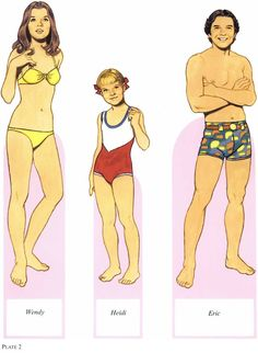 PD123 American Family Paper Dolls of the 1970s by Tom Tierney