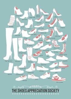 FASHION CHeat Sheet BODY TYPES | Nom de différents types de chaussures - La boite verte