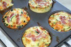 Grøntsags muffins / æggemuffins i forskellige varianter er et hit. Food To Go, I Love Food, Good Food, Food And Drink, Yummy Food, Tapas, Food Porn, Cooking Recipes, Healthy Recipes