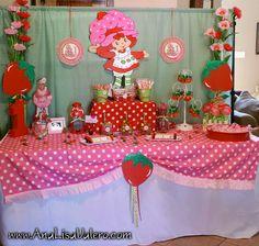 Vintage Strawberry Shortcake Party Candy Buffet Table. & STRAWBERRY Shortcake Party   Birthday Party Ideas   Pinterest ...