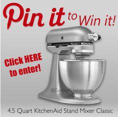 KitchenAid  Mixer Giveaway!!!  Enter to WIN!!! #Giveaway #KitchenAid #Sweepstakes
