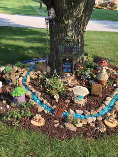 50 breathtaking miniature projects in the Fairy Garden # stunning . - 50 breathtaking miniature projects in the Fairy Garden - Fairytale Garden, Kids Fairy Garden, Magic Garden, Fairy Garden Houses, Gnome Garden, Fairies Garden, Garden Ideas Kids, Colourful Garden Ideas, Diy Fairy House