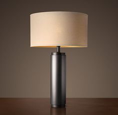 Great Room Table Lamp, RH, CYLINDRICAL COLUMN TABLE LAMP - METAL BRONZE $335 SPECIAL $285