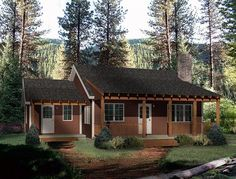 House Plan 49151 | Country Plan with 1000 Sq. Ft., 2 Bedrooms, 1 Bathrooms at family home plans