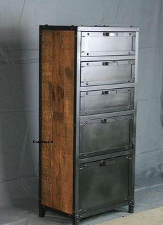 Custom Made Vintage Industrial Lingerie Chest #VintageIndustrialFurniture
