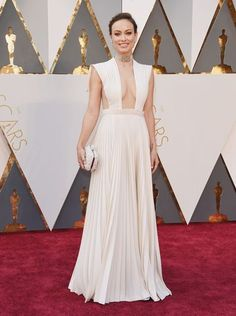 88th Academy Awards Red Carpet extravaganza and glamour - OSCARS 2016 fashion style - Olivia Wilde in Valentino