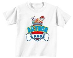 Patrulha Canina Camiseta Personalizada