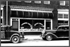 "A cafe in the warehouse district with separate doors for ""White"" and ""Colored"". A cafe in Durham, North Carolina with separate entrances for ""White"" and ""Colored,"" in 1940 Black Dad, Black And White, Gil Scott Heron, Still Picture, Lincoln Memorial, Thing 1, Jim Crow, Image Archive, Photos For Sale"
