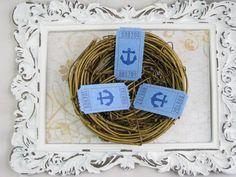Ship Anchor Tickets Beach Wedding Bridal by GoldenNestStudio