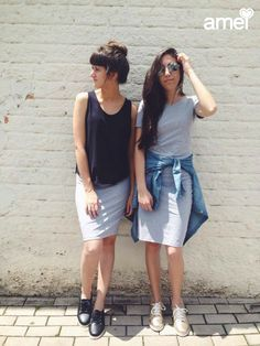 Pra completar um sábado a tarde  #etiquetaamei #lojaamei #mescla #vestido #saia #friends #fds