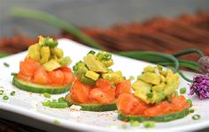 Soy Sesame Salmon Tartare with Avocado  Top 10 Tasty Mini Bites for New Year's Eve Party
