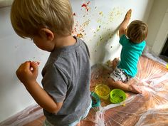 Edible paint fun for toddlers - review of Closer To Nature Explora Pack (this is what happens when you let a dad review something!)