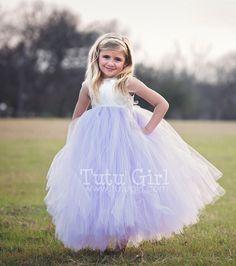 Ivory and Lilac tutu dress, flower girl dress, SIMPLY LUXE Tutu Dress (Custom)