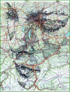 ED FAIRBURN - illustrations on maps