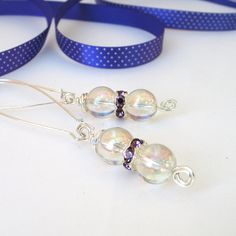 Mystic Quartz Dangle Earrings Party Jewelry by adiencrafts on Etsy, £6.95