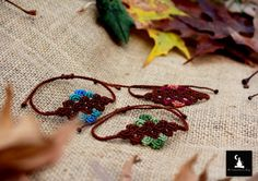 Romantic Macrame Bracelets Bohemian handmade by TheTomentosaShop