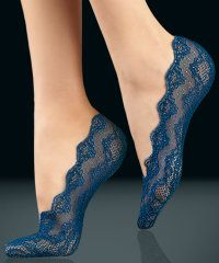 Oroblu Luna Lacy Foot Socks | Tissue Wrapped - Poshtights.com - So comfy to wear and look fab too!